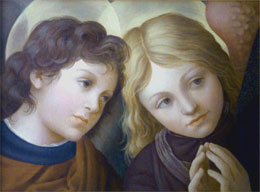 renaissance paintings - two angels after lippi